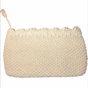 Vintage Bags - Vintage Woven and Bakelite Clutch, Made in Japan